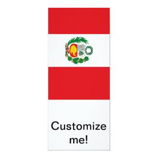 Bandera de Perú Invitacion Personalizada