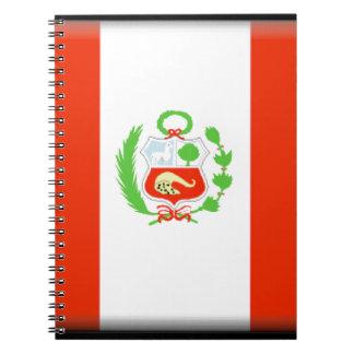 Bandera de Perú Libreta Espiral