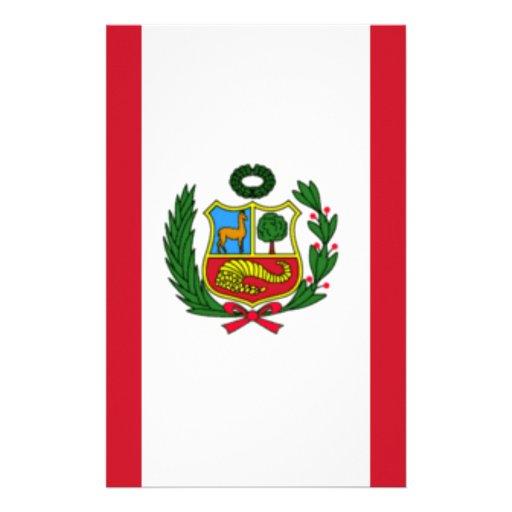 Bandera de Perú Papeleria Personalizada