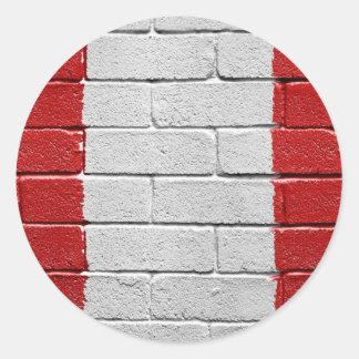 Bandera de Perú Pegatinas Redondas