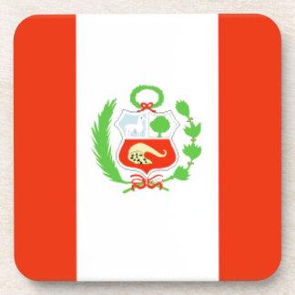 Bandera de Perú Posavasos De Bebida