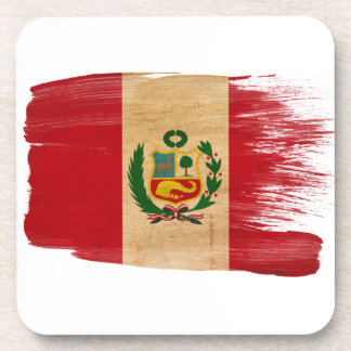 Bandera de Perú Posavasos De Bebidas