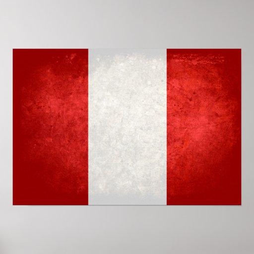 Bandera de Perú Posters