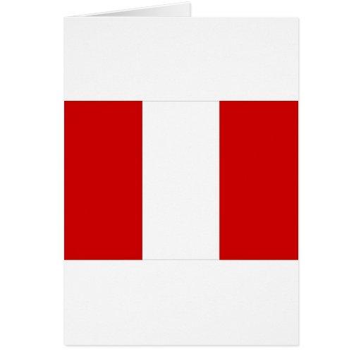 Bandera de Perú Tarjeta De Felicitación