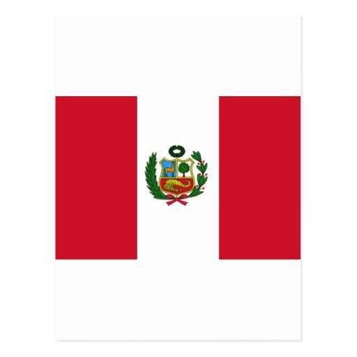 Bandera de Perú Tarjeta Postal