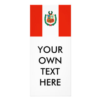 Bandera de Perú Tarjetas Publicitarias A Todo Color