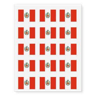 Bandera de Perú Tatuajes Temporales