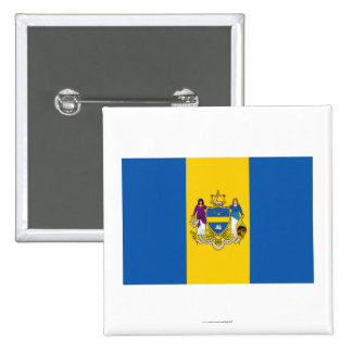 Bandera de Philadelphia Pin Cuadrada 5 Cm