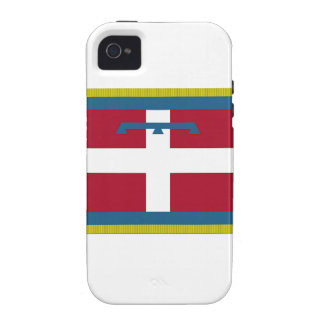 Bandera de Piamonte (Italia) iPhone 4 Funda