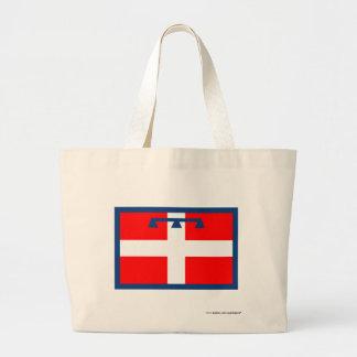 Bandera de Piemonte Bolsa Tela Grande