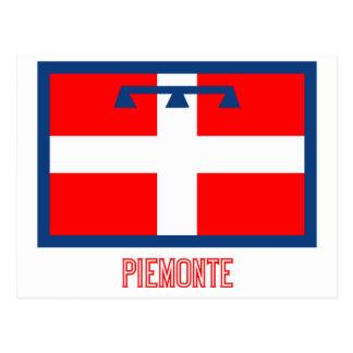 Bandera de Piemonte con nombre Postal