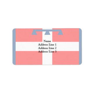 Bandera de Piemonte, Italia Etiquetas De Dirección
