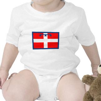 Bandera de Piemonte Trajes De Bebé