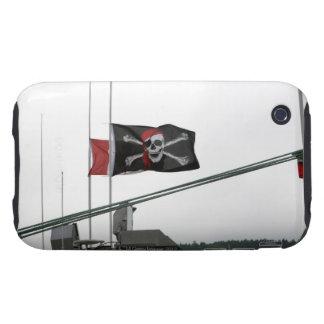 Bandera de pirata al aire libre iPhone 3 tough carcasas