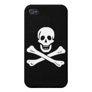 Bandera de pirata alegre de Rogelio iPhone 4/4S Fundas