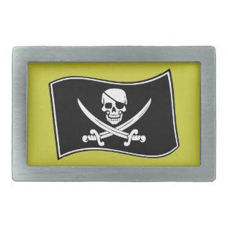 Bandera de pirata alegre de Rogelio Hebillas Cinturon Rectangulares