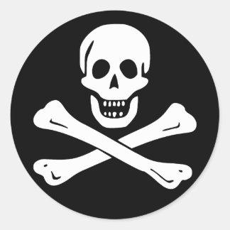 Bandera de pirata alegre de Rogelio paquete de 6 Pegatina
