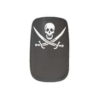 Bandera de pirata alegre de Rogelio Stickers Para Uñas