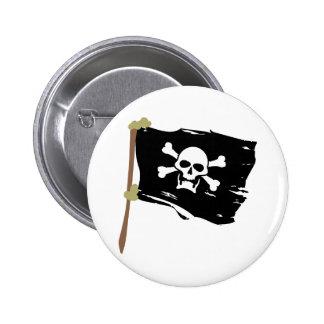 Bandera de pirata alegre de Rogelio Pin Redondo De 2 Pulgadas
