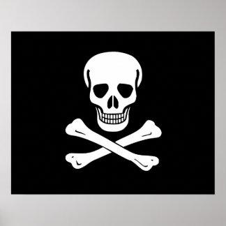 Bandera de pirata alegre de Rogelio Póster