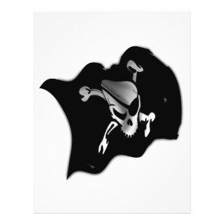 Bandera de pirata alegre de Rogelio que agita Tarjeta Publicitaria