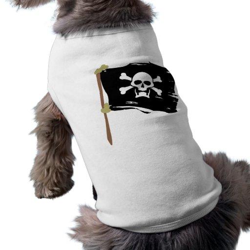 Bandera de pirata alegre de Rogelio Ropa De Mascota