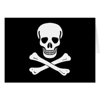 Bandera de pirata alegre de Rogelio Tarjeta De Felicitación
