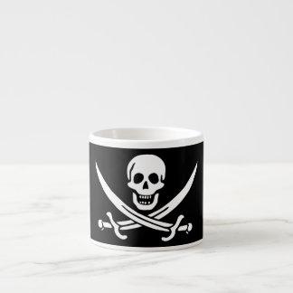 Bandera de pirata alegre de Rogelio Taza Espresso