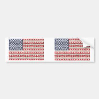 Bandera de pirata americana pegatina para auto