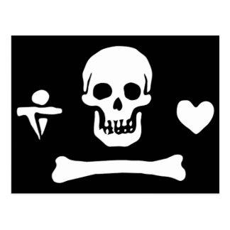 Bandera de pirata auténtica del capo de Stede Postal