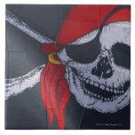 Bandera de pirata azulejos