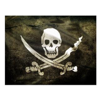Bandera de pirata, bandera de piratas postal