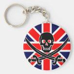 Bandera de pirata BRITÁNICA Llaveros Personalizados