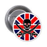 Bandera de pirata BRITÁNICA Pins