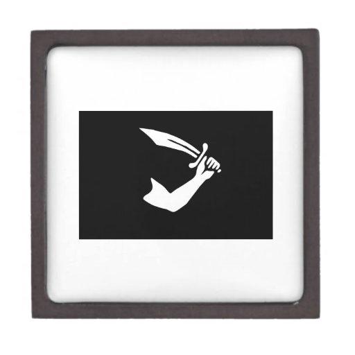 Bandera de pirata caja de joyas de calidad