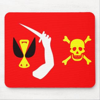 Bandera de pirata cambiante de Christopher Mouse Pad