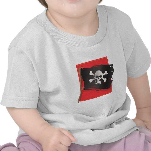 Bandera de pirata camiseta