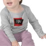 Bandera de pirata camisetas