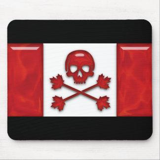 Bandera de pirata canadiense alfombrilla de ratón