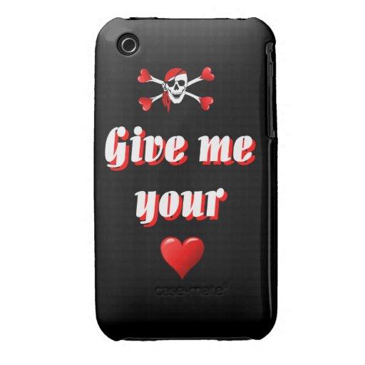 Bandera de pirata chistosa divertida iPhone 3 Case-Mate protector