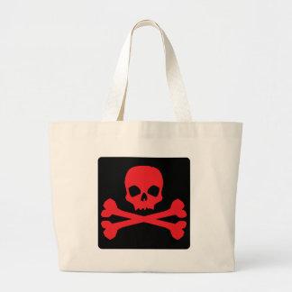 Bandera de pirata colorida bolsa