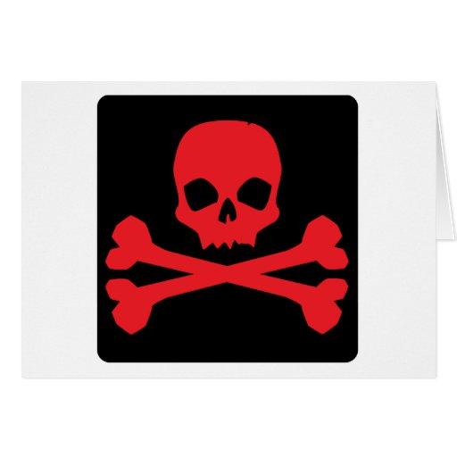 Bandera de pirata colorida tarjetón