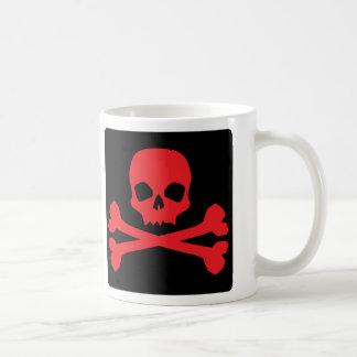 Bandera de pirata colorida taza de café