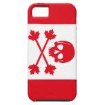 Bandera de pirata de Canadá iPhone 5 Case-Mate Protectores