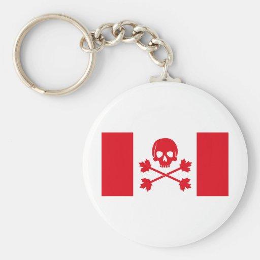 Bandera de pirata de Canadá Llavero Redondo Tipo Pin