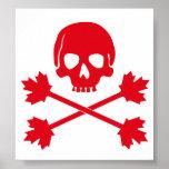 Bandera de pirata de Canadá Poster
