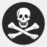 Bandera de pirata de Edward England Pegatina Redonda