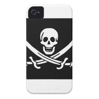 Bandera de pirata de Jack Rackham Carcasa Para iPhone 4 De Case-Mate