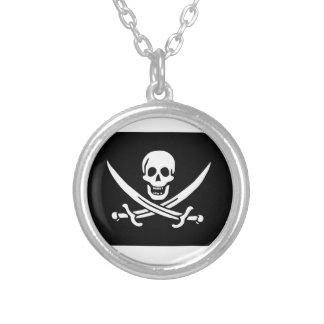 Bandera de pirata de Jack Rackham Colgante Redondo