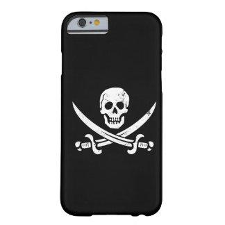 Bandera de pirata de Juan Rackham (calicó Jack) Funda De iPhone 6 Barely There